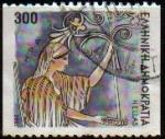 sellos de Europa - Grecia -  GRECIA GRECEE 1986 Scott 1556 Sello Dibujos Dioses Griegos Hera Usado