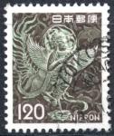 Sellos de Asia - Japón -  JAPON_SCOTT 1079.07 MITICA MUJER ALADA DE CHUSONJI. $0,20
