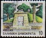 Sellos de Europa - Grecia -  GRECIA GRECEE 1990 Scott 1688 Sello Arquitectura Mesolongion Monumento a las Caidos Usado