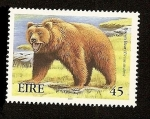Stamps Ireland -  Animales extinguidos de Irlanda - Oso marrón