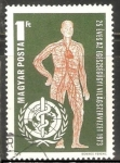 Stamps Hungary -  25 años de la Organización Mundial de la Salud para los Derechos Humanos