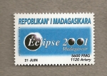 Stamps Africa - Madagascar -  Eclipse año 2001