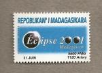 Sellos del Mundo : Africa : Madagascar : Eclipse año 2001