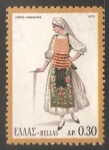 Stamps Greece -  Traje tipico femenino de Locris