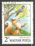 Stamps Hungary -  El cuervo y la zorra