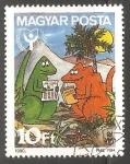 Stamps Hungary -  Dinosaurios