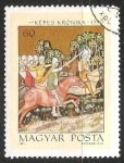 Stamps Hungary -  Aba Sámuel pursuing King Peter Orseolo