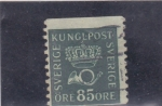 Stamps Sweden -  CORNETA Y CORONA