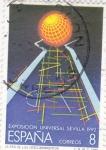 Sellos de Europa - España -  EXPOSICION UNIVERSAL SEVILLA(28)