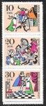 Stamps Germany -  1021-1023-1025 - Leyenda del Rey Drosselbart