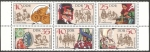 Stamps : Europe : Germany :  2365 a 2370 - Folklore