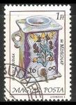 Sellos de Europa - Hungría -   58 aniversario del dia del sello – cerámica