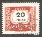 Stamps Hungary -  Numeros