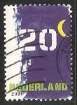Sellos de Europa - Holanda -  numeros y luna