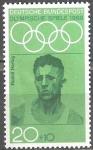 Sellos de Europa - Alemania -  Juegos olimpicos de verano en Mexico 1968(Rudolf Harbig).