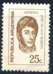 Stamps : America : Argentina :  ARGENTINA_SCOTT 933.02 GENERAL JOSE DE SAN MARTIN (25C). $0,20
