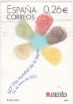 Sellos de Europa - España -  50º DIA MUNDIAL DE LA LEPRA (28)