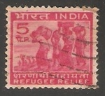 Stamps India -  Ayuda a los refugiados