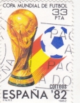 Stamps Spain -  COPA MUNDIAL DE FUTBOL (28)