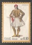 Sellos de Europa - Grecia -  Traje tipico  Peloponesia