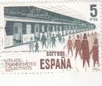 Stamps : Europe : Spain :  UTILIZA TRANSPORTES COLECTIVOS (28)