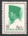Sellos de Asia - Indonesia -  President Sukarno
