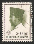Stamps Indonesia -  President Sukarno