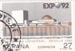 Stamps Spain -  Expo-92 pabellón de España(28)
