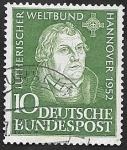 Sellos del Mundo : Europa : Alemania :  36 - Luther, por Lucas Cranach