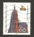 Sellos del Mundo : Europa : Alemania :  1266 - 750 Anivº de la Catedral de Francfort