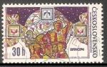 Stamps Czechoslovakia -  A nivel nacional exposicion de sellos - Brno 1974