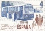 Sellos del Mundo : Europa : España : UTILICE EL TRANSPORTE COLECTIVO (28)