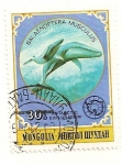 Sellos de Asia - Mongolia -  Animales antarticos. (Ballena gigante azul)
