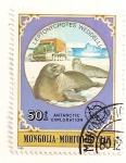 Stamps Mongolia -  Animales antarticos. (Foca de Wedell)