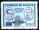 Stamps Bolivia -  BOLIVIA_SCOTT 699.01 ENTREVISTA DE PRESIDENTES SUAZO & ARAMBURU. $0.25