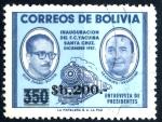 Sellos de America - Bolivia -  BOLIVIA_SCOTT 699.02 ENTREVISTA DE PRESIDENTES SUAZO & ARAMBURU. $0.25
