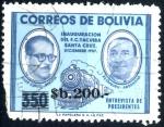 Stamps : America : Bolivia :  BOLIVIA_SCOTT 699.04 ENTREVISTA DE PRESIDENTES SUAZO & ARAMBURU. $0.25