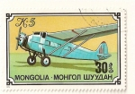Stamps Asia - Mongolia -  Aviones (K5)