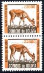 Stamps : America : Bolivia :  BOLIVIA_SCOTT 715.03_04 VICUÑA, FAUNA EN PELIGRO. $1.00