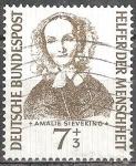 Sellos de Europa - Alemania -  Fondo de Ayuda Humanitaria.Amalie Sieveking (1794-1859),co-fundador de la Diakonie en Alemania.