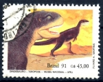 Sellos de America - Brasil -  BRASIL_SCOTT 2318 DINOSAURIO TEROPODO. $0.25
