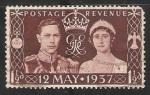 Sellos de Europa - Reino Unido -  Coronacion del Rey George VI