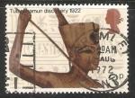 Sellos de Europa - Reino Unido -  Estatua de Tutankamon