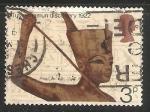 Sellos del Mundo : Europa : Reino_Unido : Estatua de Tutankamon