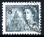 Stamps : America : Canada :  CANADA_SCOTT 544 ISABEL II Y BIBLIOTECA DEL PARLAMENTO. $0.20