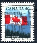Stamps : America : Canada :  CANADA_SCOTT 1169.01 BANDERA Y MONTAÑAS. $0.20