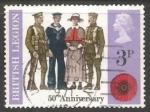 Sellos de Europa - Reino Unido -  50º Aniversario La Real Legión Británica.