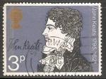 Sellos de Europa - Reino Unido -  John Keats - 150 aniversario de su muerte