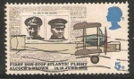 Stamps United Kingdom -  Primer vuelo trasatlantico