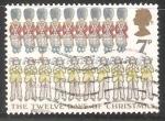 Stamps United Kingdom -  Los doce días de Navidad